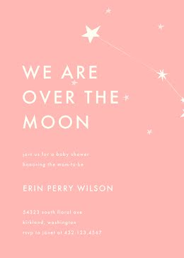 Over the Moon - Baby Shower item