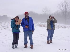 Photo: Counting in the fog - Liana and Scott Edwards, Mark Balcom-Wolf