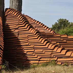 Tiles en trees by Lucien Vandenbroucke - Sculpture All Sculpture (  )