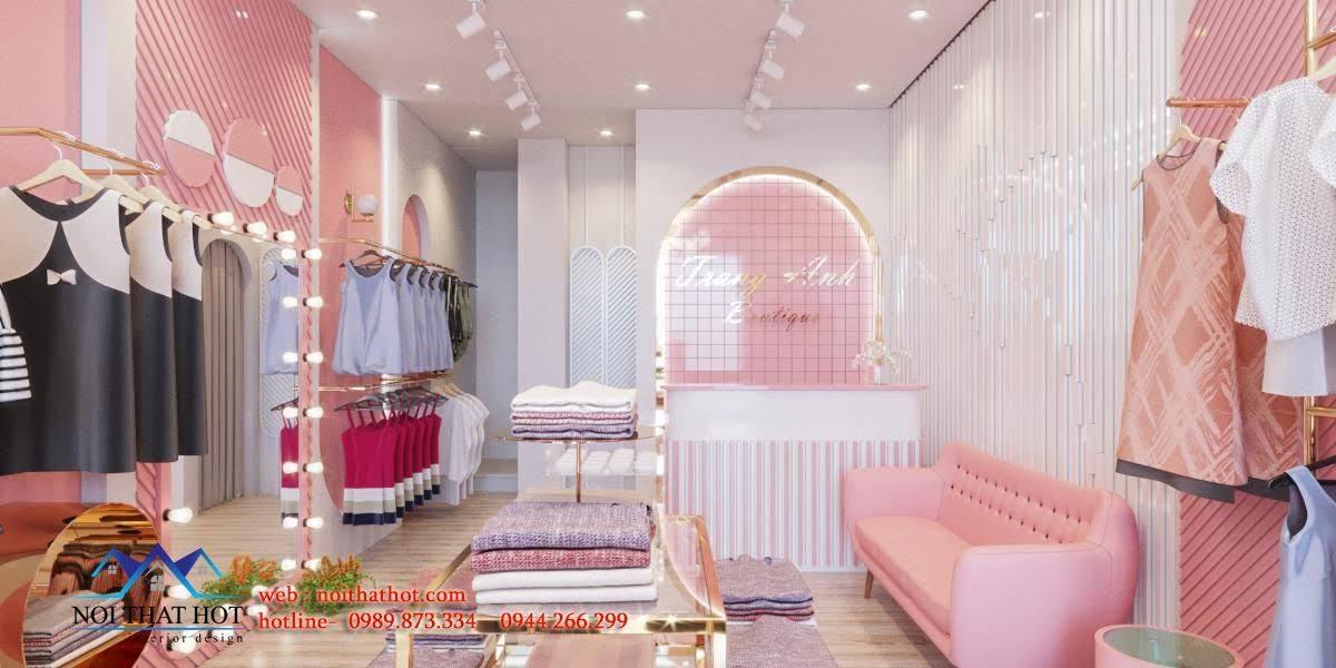 thiết kế shop quần áo phong cách hàn quốc