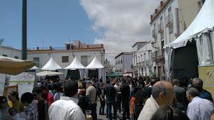 La plaza central de Laujar, durante la anterior edición de la Feria del Vino