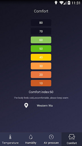 Thermometer - Hygrometer & Ambient Temperature app 2.1 screenshots 4