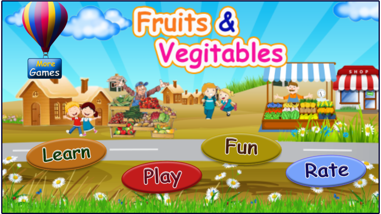 Fruits and vegetables learning- screenshot