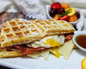 Easter Waffle Breakfast Sandwich