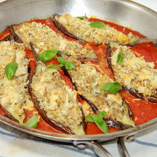 EGGPLANT AND CHICKEN MARINARA.