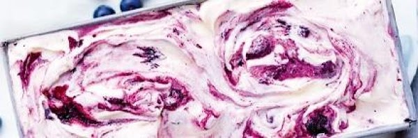 Cheesecake Ice Cream With Blueberry Swirl Recipe