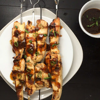 Chicken Skewers With Asian Awesome Sauce.
