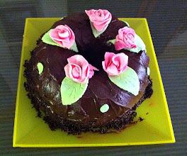 Photo: Tarta de Chocolate con Rosas