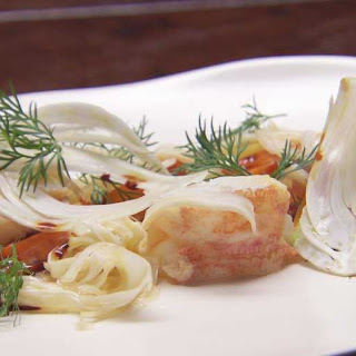Lobster with Carrots, Fennel and Dill Mayo.
