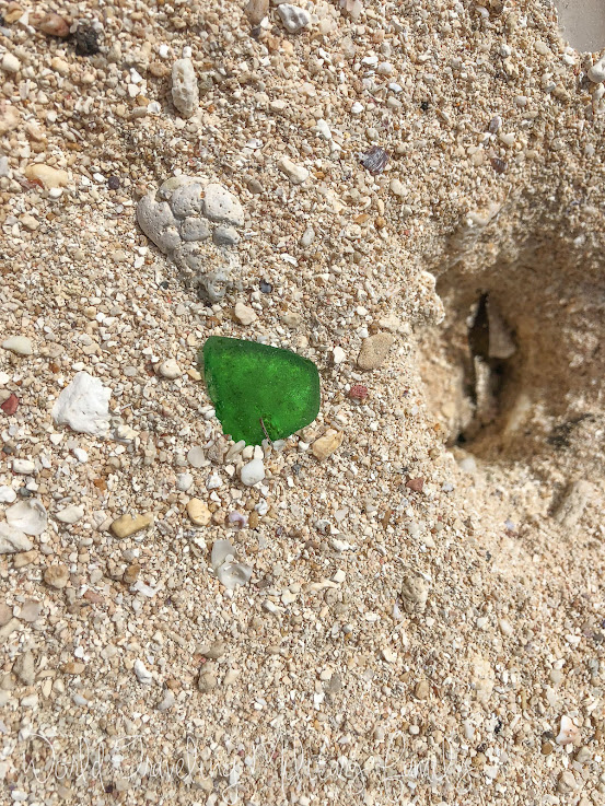 sea glass hunting Guam