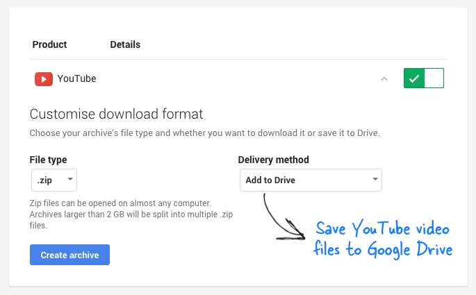 download your youtube videos-google-drive