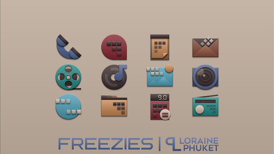 Freezies -  Winter icon pack Screenshot
