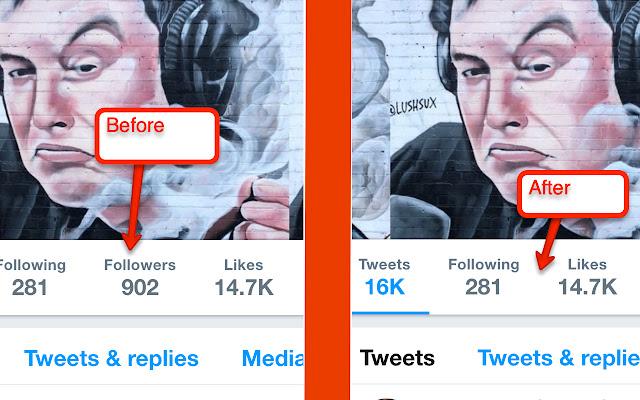 Hide Follower Amounts on Twitter