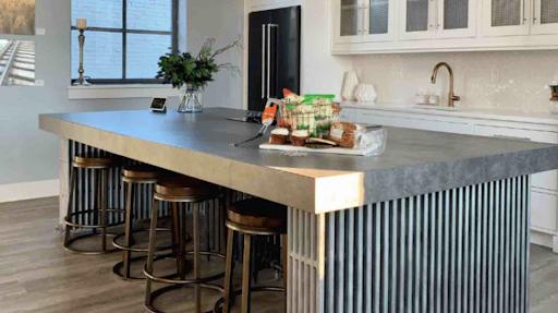plan travail cuisine beton cire