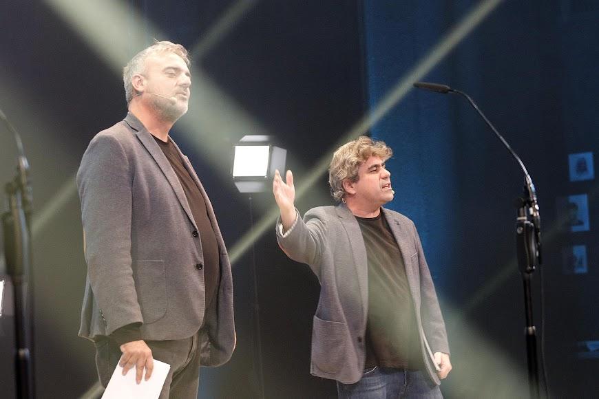 Paco Calavera y Pepe Céspedes, presentadores de la gala.