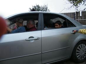 """Photo: Ajándék-autózás Gyenes Károly bácsi kocsijával. Van, akinek a """"vezetés"""" élménye is megadatott."""