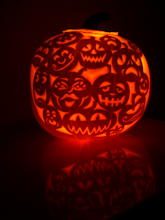 Photo: I could not decide on a single jack-o-lantern face style so...
