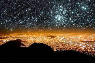 Photo: Mexico city at night is a reflection of a sky full of stars
