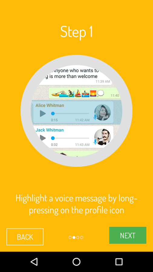 Voicer for WhatsApp- screenshot