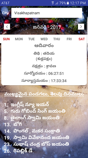 Telugu Calendar screenshot