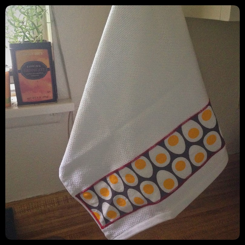 Egg yolk kitchen towel