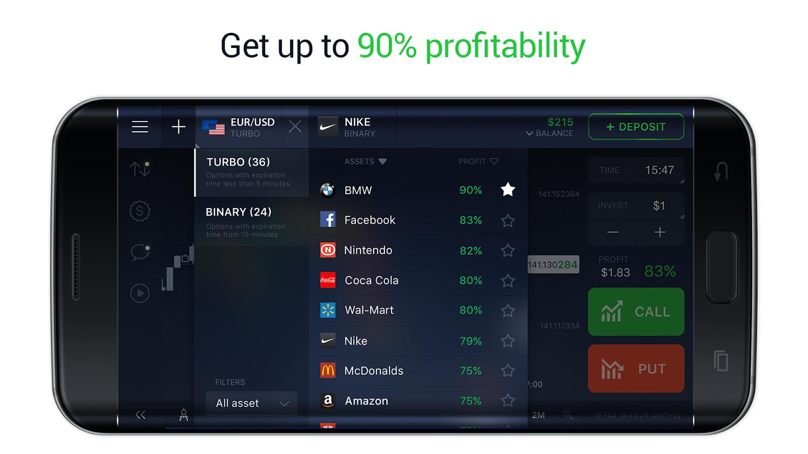key option binary options app