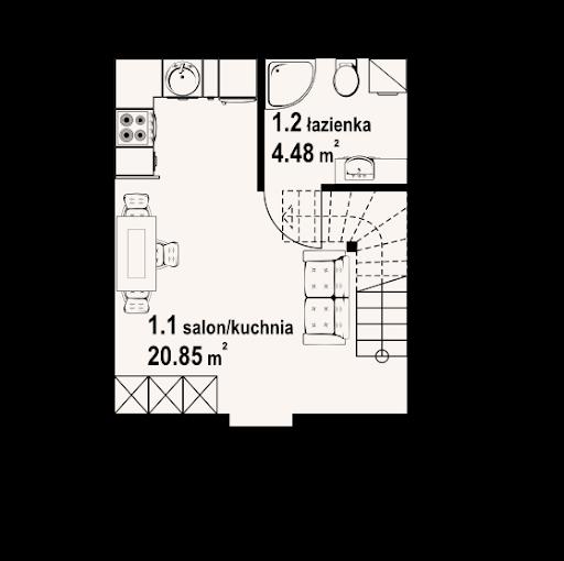 Gajowo 15 dws - Rzut parteru