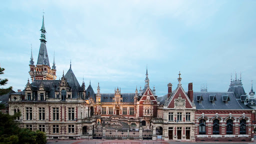 The Benedictine Palace in Fecamp in Normandy, France, houses a visitor center that shows how Benedictine liqueur is made.