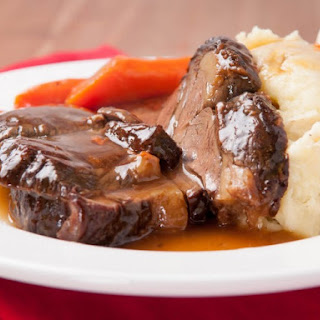 Pot Roast With Cola, Onion Soup, And Chili Sauce.