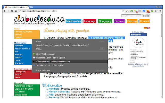 Speak Selected Text by elabueloeduca.com
