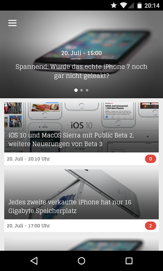 Apfellike Magazin – Screenshot