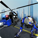 Air Force Transform Robot Cop Wolf Helicopter Game icon