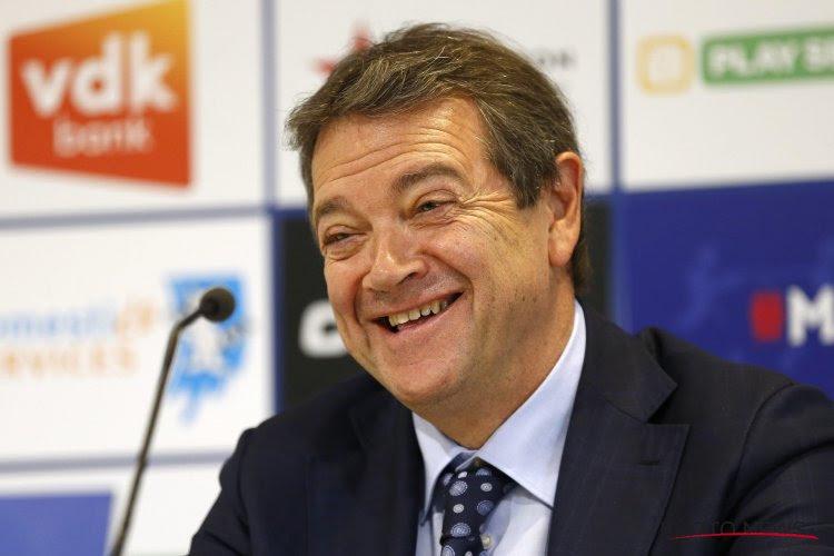 Michel Louwagie, très optimiste suite au mercato, fixe l'objectif de Gand en Europa League