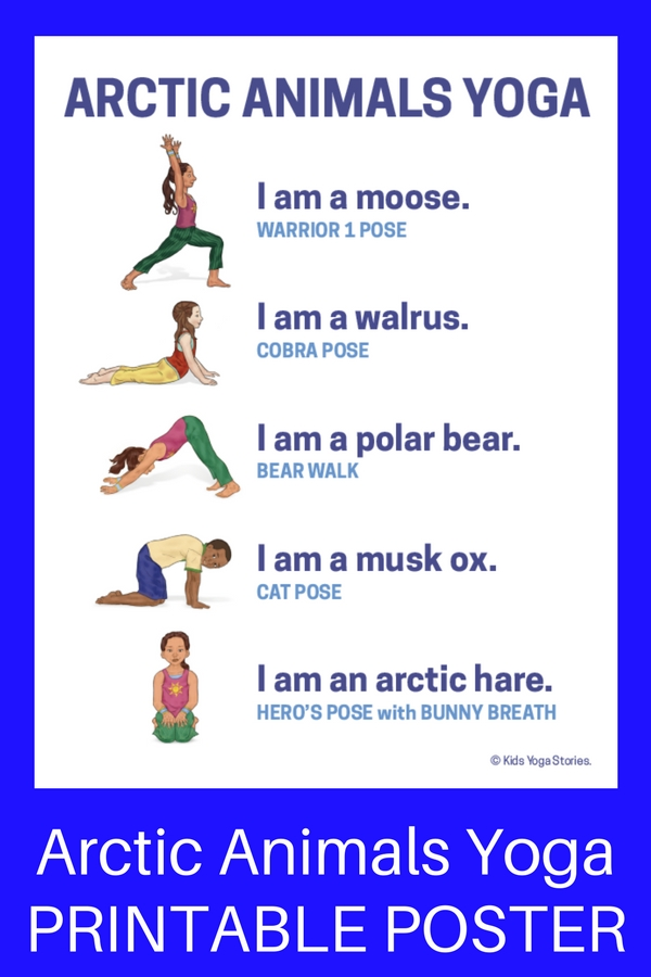 Download Your Arctic Animals Yoga Poster