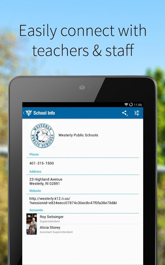 Westerly Public Schools Mobile- screenshot