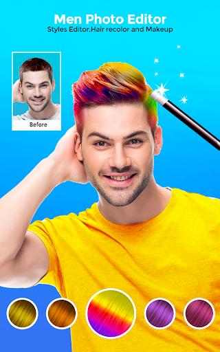 Hairy - Men Hairstyles beard & boys photo editor 4.3 screenshots 1