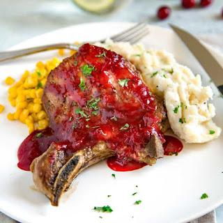 Cranberry Glazed Pork Loin Chops Recipe