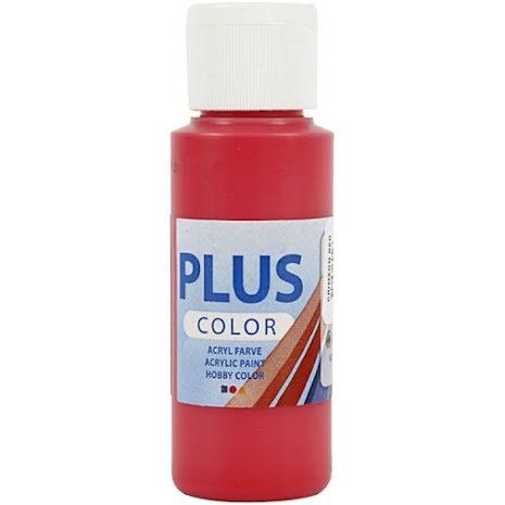 Hobbyfärg Plus color - röd, 60 ml