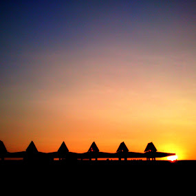 Sunset at Football Stadium by Nova Aryanto - Instagram & Mobile Android ( sky, android, sunset, indonesia, sun )