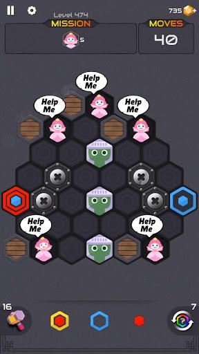 Princess and Zombies -Puzzle Hexa Blast apktram screenshots 3