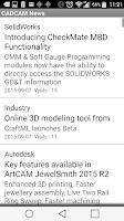 Screenshot of CADCAM News
