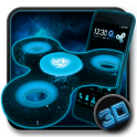 Fidget Spinner Space 3D Theme icon