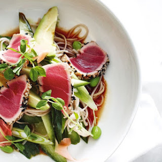 Seared Sesame Tuna With Soba Noodles
