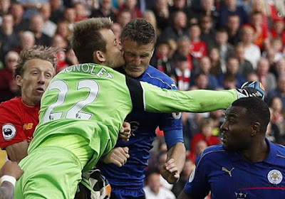 "Mignolet gehavend na duel tegen Leicester City: ""Verdient een oorlogsmedaille"""