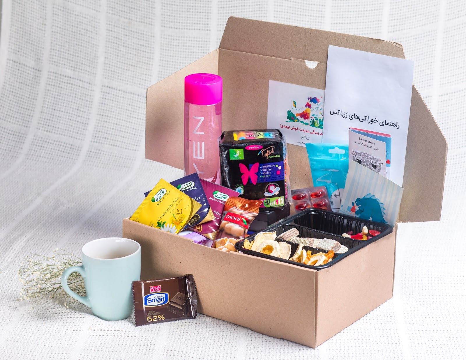 Custom mailer box filled with subscription products