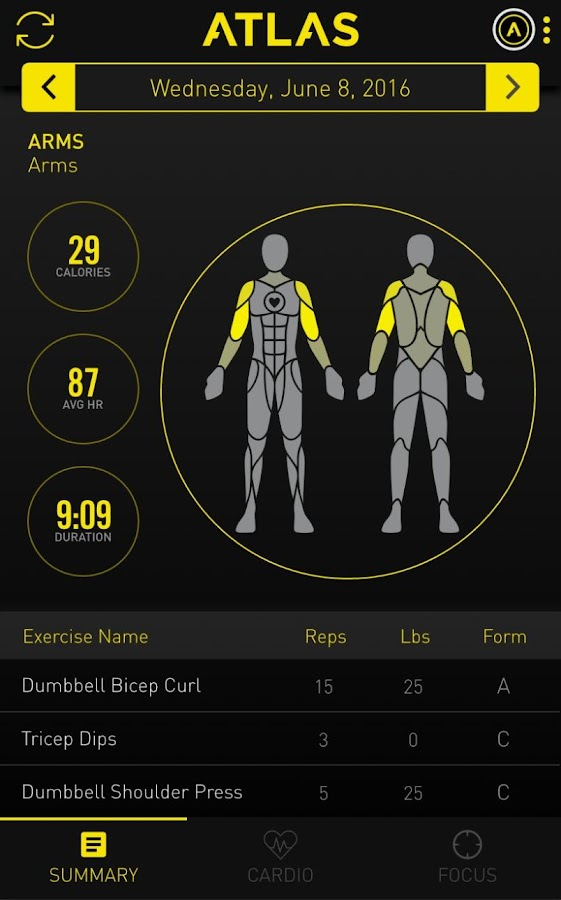 Atlas Workout Tracker- screenshot