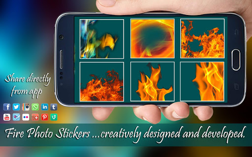 Fire Stickers & Photo Filters Screenshot