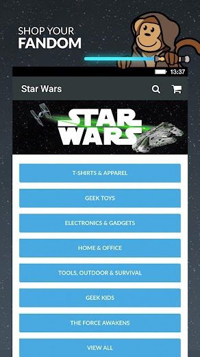 Screenshot 4 for ThinkGeek's Android app'