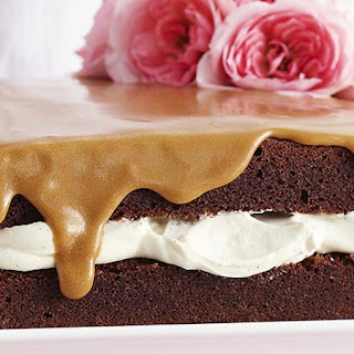 Chocolate Sponge Cake with Coffee Icing.
