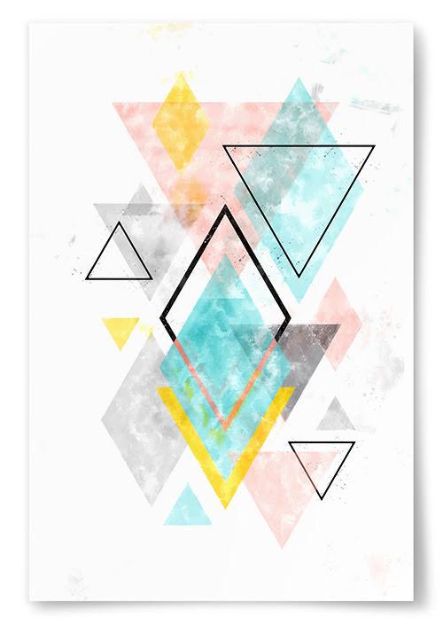 Poster Geometriska Former Konst